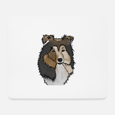 Long-haired Long-haired Herd Dog Longhair Collie Mama | Collie Rough Collies - Mouse Pad