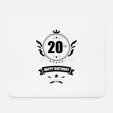 20th Happy 20th birthday - 20th birthday - Mouse Pad