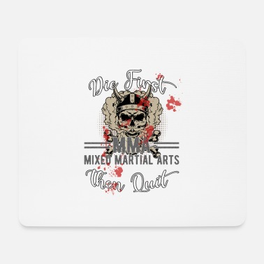 Brutal die first then quit mma blood skull viking warrior - Mouse Pad