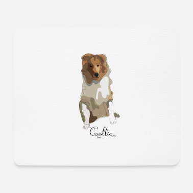 Long-haired Long-haired Herd Dog Collie rough long hair collie - Mouse Pad