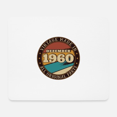 December 1960 - 60th birthday Funny present - Mouse Pad