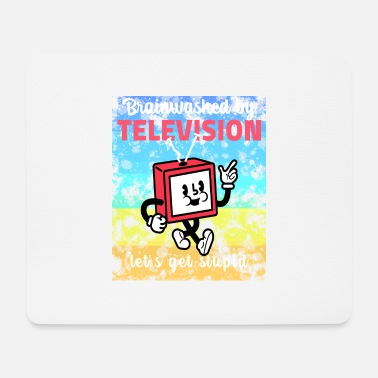 Television brainwashed by television - Mousepad