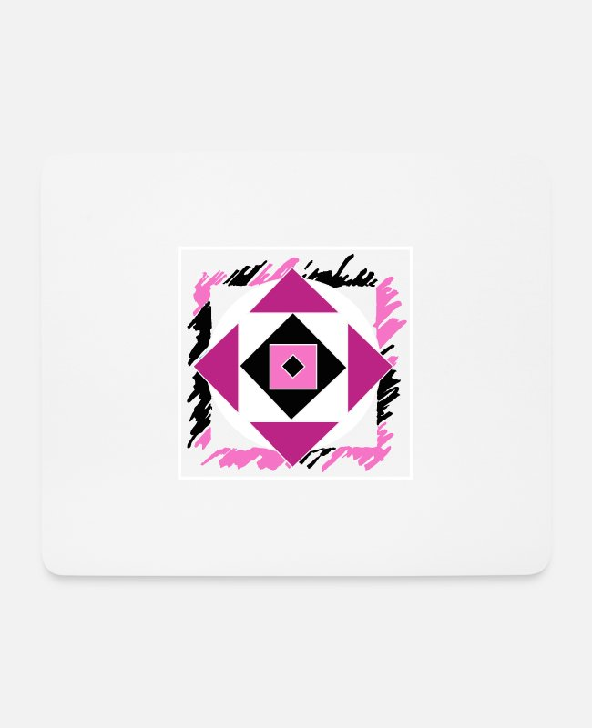 Arrow Mouse Pads - Pink abstract art - Mouse Pad white