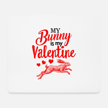 My Is My Valentine Shirt Cute Rabbit Lover Spring - Mouse Pad