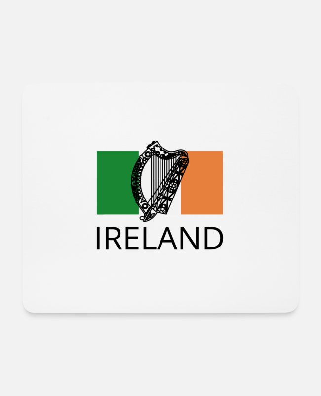Red Head Mouse Pads - ireland - Mouse Pad white