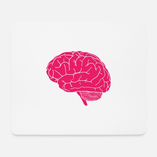 Gift Idea Mouse Pads - Brain - Mouse Pad white