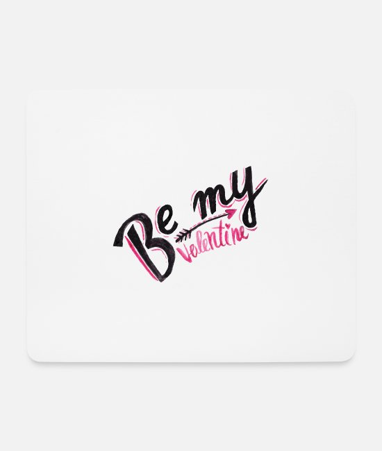 Cute Mouse Pads - Be My Valentine - Valentines Day - Mouse Pad white