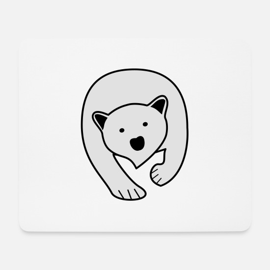 Raccoon Mouse Pads - Polar Bear - Mouse Pad white