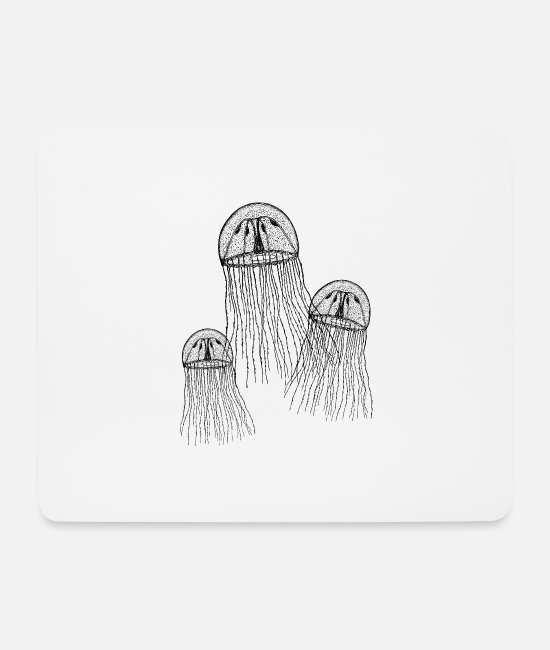 Jellyfish Mouse Pads - jellyfish - Mouse Pad white
