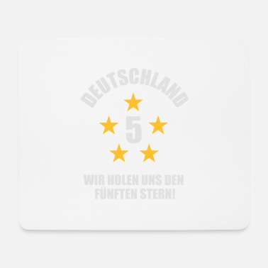 Schland Germany 5 Stars Germany Soccer Fan Shirt - Mousepad (bredformat)