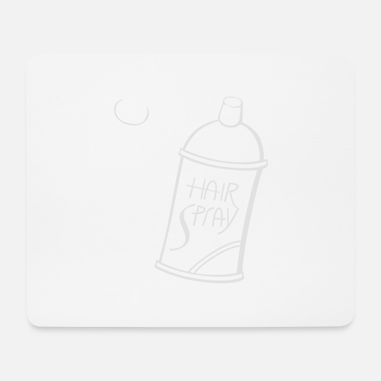 Boss Mouse Pads - hair spray - Mouse Pad white