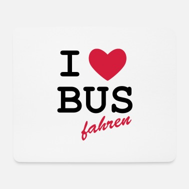 Loret I Love bus travel - Mouse Pad