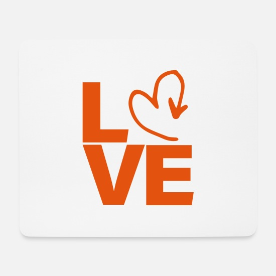 Love Mouse Pads - love heart - Mouse Pad white