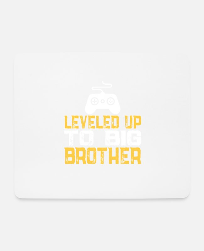 Gamepad Mouse Pads - Brother sibling child birth boy gift - Mouse Pad white