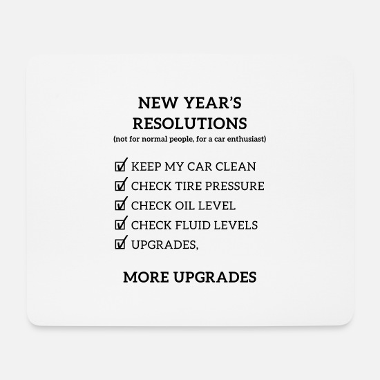 Auto Mousepads  - JDM New year resolution | T-shirts JDM - Mousepad Weiß