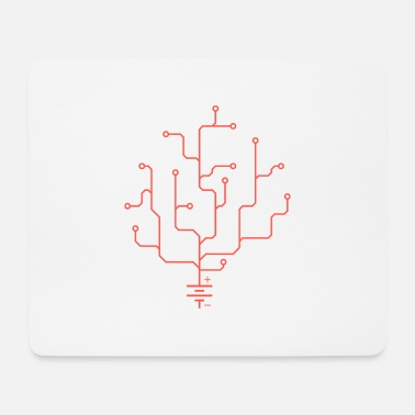 Electric coral smooth - Mouse Pad