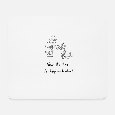 Help Together HELPING HAND | Together | Life | Grow | Thank you - Mouse Pad