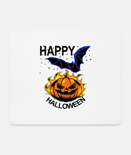 Bats Mouse Pads - Happy Halloween - Mouse Pad white
