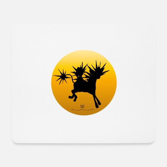 Gift Idea Mouse Pads - Energy creature Solpese - Mouse Pad white