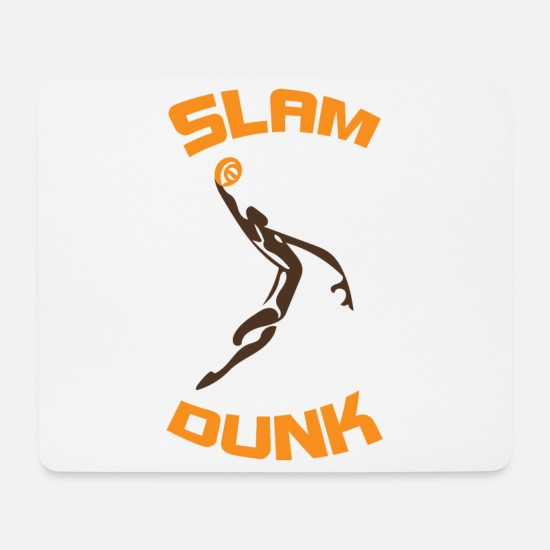 Basket Mouse Pads - Slam Dunk - Mouse Pad white