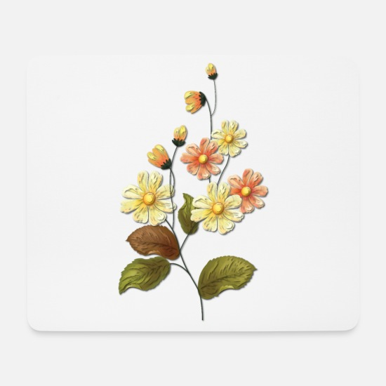 Bouquet Of Flowers Mouse Pads - Flowers and autumn - Mouse Pad white