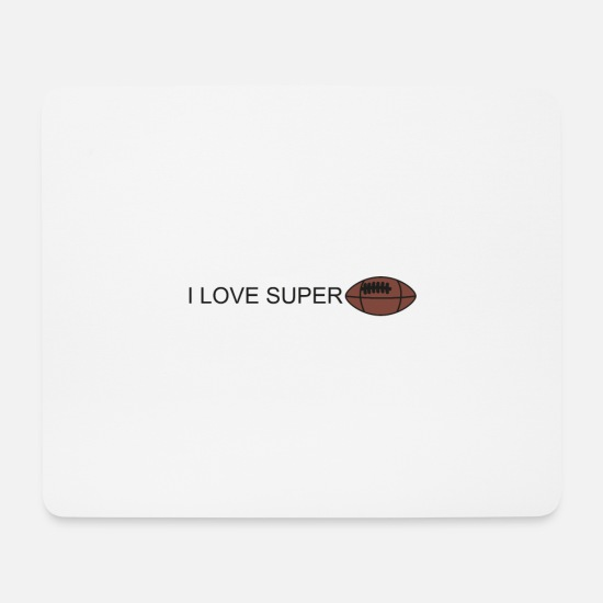 Stadium Mouse Pads - ilove football - Mouse Pad white