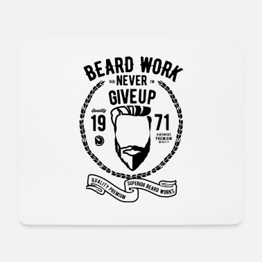 Attraktiv Beard Work - Mousepad (bredformat)