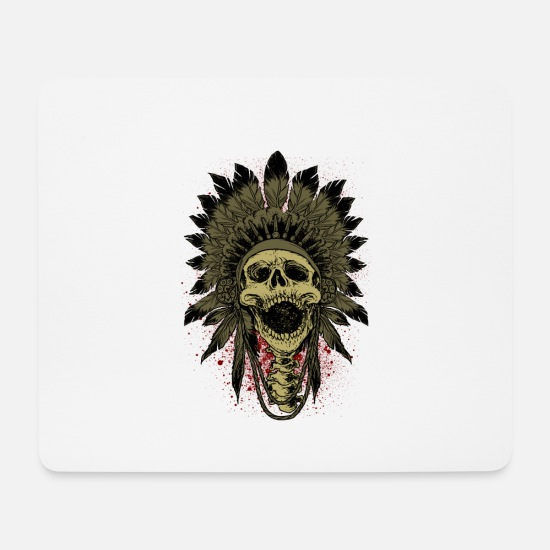 Gift Idea Mouse Pads - Native American Indians - Mouse Pad white