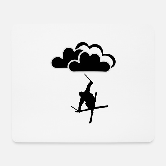 Freestyle Mouse Pads - Freestyler with clouds - Mouse Pad white
