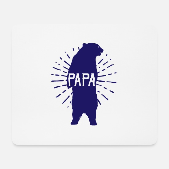 Father's Day Mouse Pads - Papa Bear Fathers Day - fathers day - Mouse Pad white
