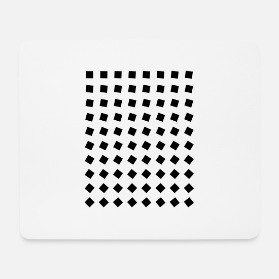Quadrat Mouse Pads - Black blocks - Mouse Pad white