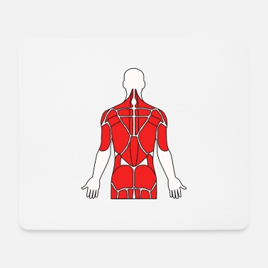 Tricep Anatomy Back Muscles Physio Fitness Sport Gym - Mouse Pad