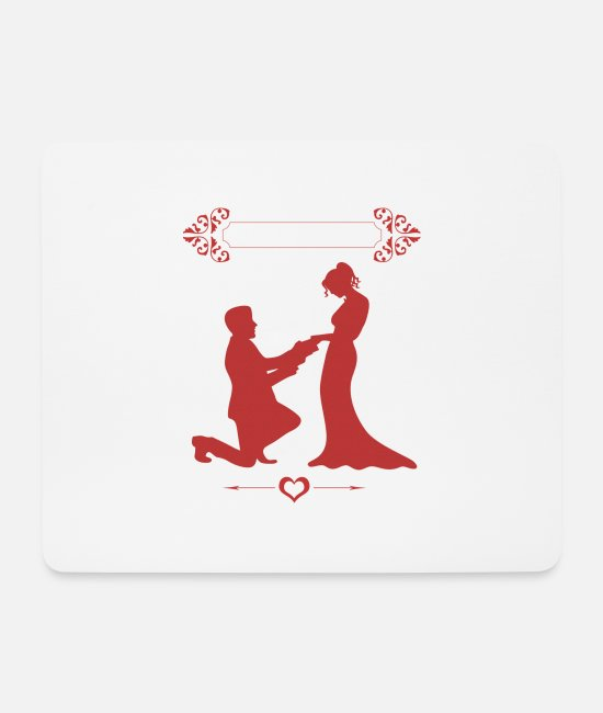 Ringe Mousepads - Ich Heirate - Mousepad Weiß