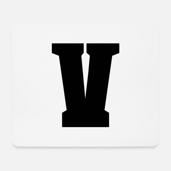Buchstabe Mousepads  - V - Buchstabe - Mousepad Weiß