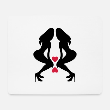Vector Underwear ۞»♥Sexy Twin women on Killer Stilettos♥«۞ - Mouse Pad