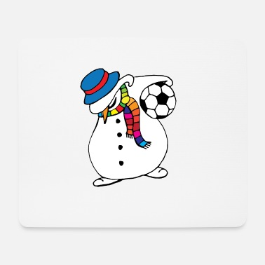 Xmas Snowman Dab Dance Football - Tappetino mouse