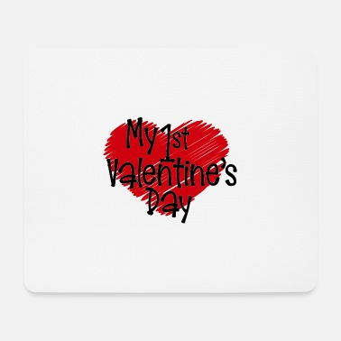 1st Birthday 1st Valentines Day Valentine's Day Love Partner Gefü - Mouse Pad