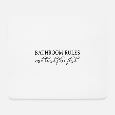 Bathroom Bathroom Rules Bathroom Rules Laws - Mouse Pad