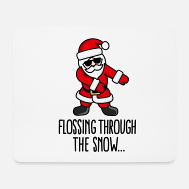 Like A Boss Flossing through the snow Santa Floss like a boss - Tappetino per mouse (orizzontale)