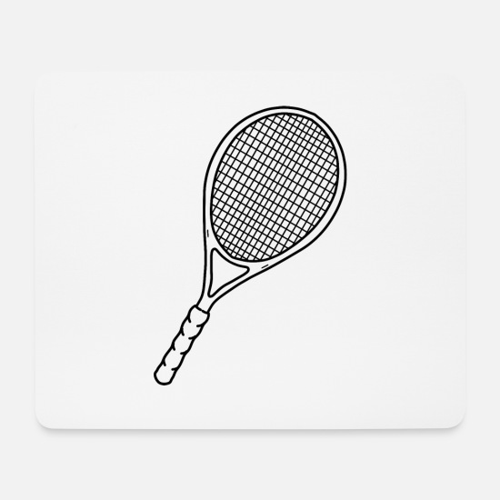 Birthday Mouse Pads - tennis racket - Mouse Pad white