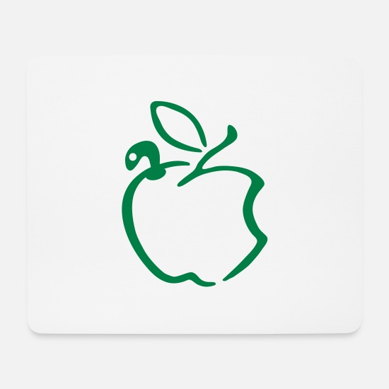 Wurm Mousepads  - apple_worm - Mousepad Weiß