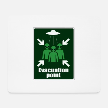 Parody Sign Alien Evacuation Point - Mouse Pad