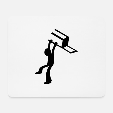Bar Man BAR Fight man male throwing a chair - Mouse Pad