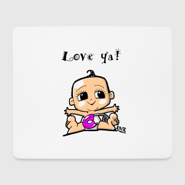 baby girl color - Mouse Pad (horizontal)