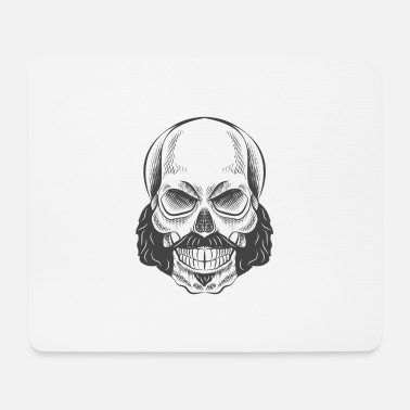 Whiskers Skull with whiskers - Mouse Pad