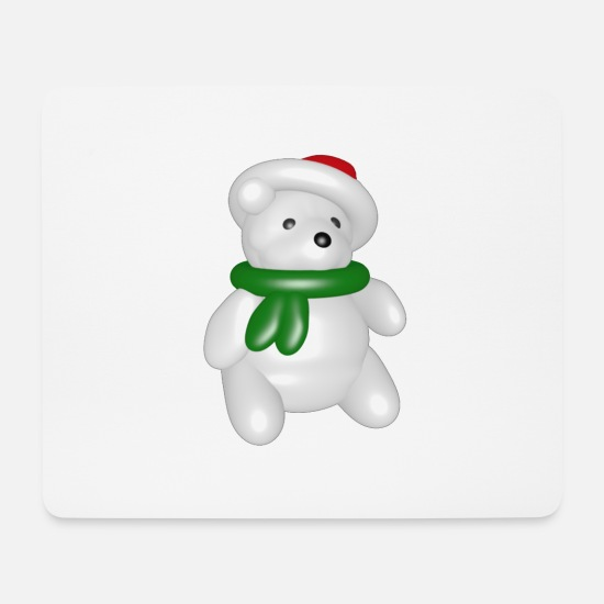 Christmas Mouse Pads - polar bear - Mouse Pad white