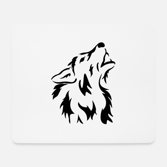 Wolf Mouse Pads - Hund, Wolf, Tiere, Chien, loup, animaux, Dog - Mouse Pad white