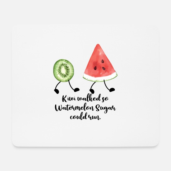 Kiwi Mouse Pads - Kiwi Walked So Watermelon Sugar Could Run - Mouse Pad white