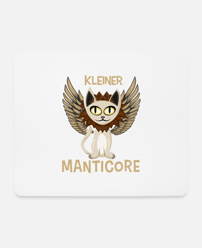 Pen And Paper Mouse Pads - small Manticore shirt cute mythical creature mythical animal - Mouse Pad white