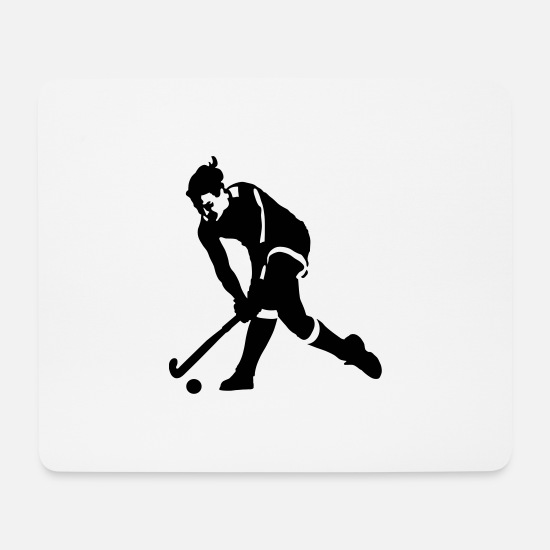 Hockey Mouse Pads - field hockey - Mouse Pad white